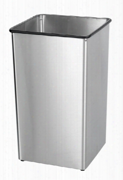 Stainless Steel 36-gallon Receptacle Base By Safco Office Furniture