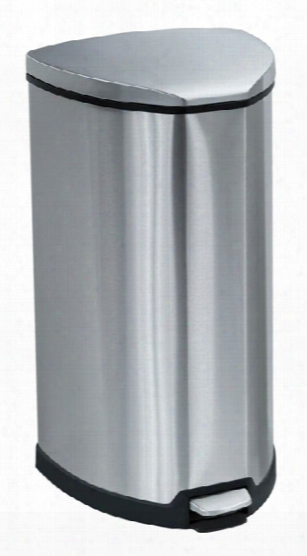 Stainless Step-on 10 Gallon Receptacle By Safco Office Furniture