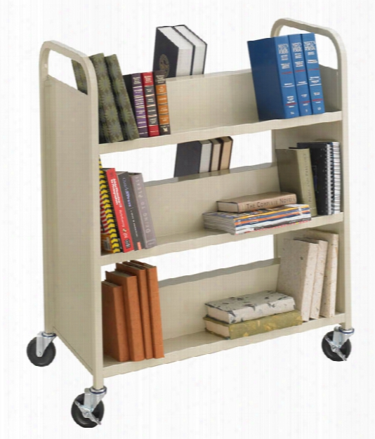 Steel Double-sided Book Cart By Safco Office Furniture