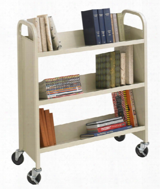 Steel Single-sided Book Cart By Safco Office Furniture