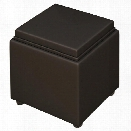 Leather Storage Ottoman by Mayline Office Furniture