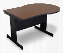 Marvel Vizion Keyhole Laminate Top Side Table with Modesty Panel - (Cherry Laminate) by Marvel