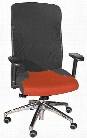 Mesh Back Executive Chair with Chrome Base by High Point Furniture