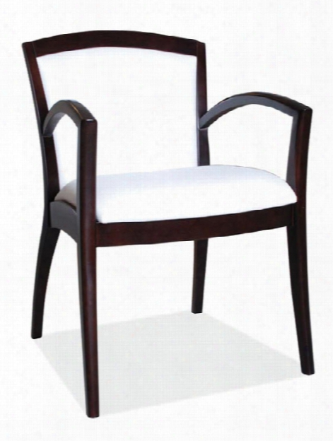 Wood Guest Chair With Arms By Office Source