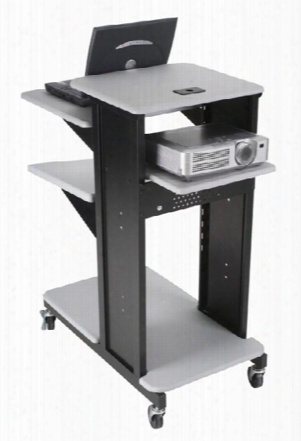 Xtra Long Presentation Cart With Optional Shelf By Balt