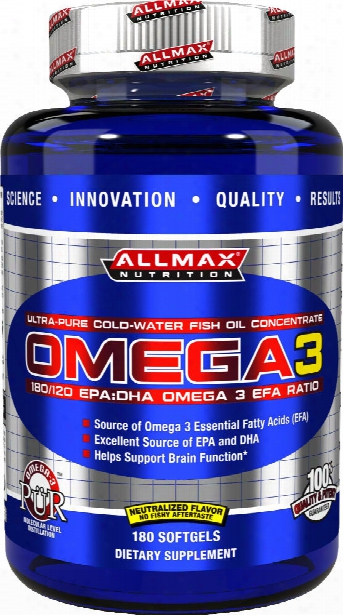 Allmax Nutrition Omega 3 - 180 Softgels