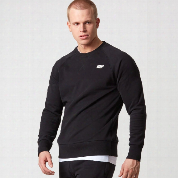 Classic Crew Neck Sweatshirt - Black - S