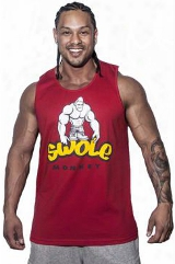 Cutler Athletics Swole Monkey Tank - Red Large