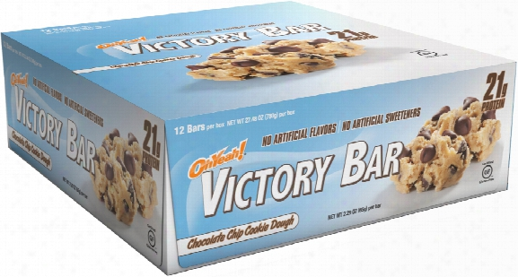 Iss Oh Yeah! Victory Bars - Box Of 12 Chocolate Chip Cookie Dough