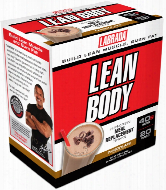 Labrada Nutrition Lean Body Meal Replacement - 20 Packets Chocolate