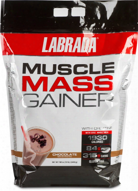 Labrada Nutrition Muscle Mass Gainer - 12lbs Chocolate