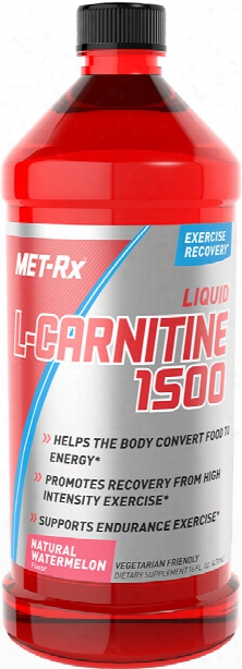 Met-rx Liquid L-carnitine 1500 - 16 Fl. Oz. Natural Watermelon