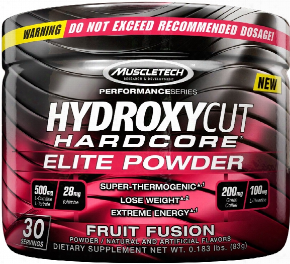 Muscletech Hydroxycut Hardcore Elite Powder - 30 Servings Fruit Fusion