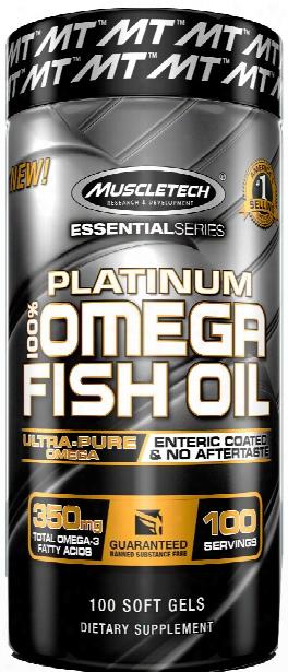 Muscletech Platinum 100% Fish Oil - 100 Softgels