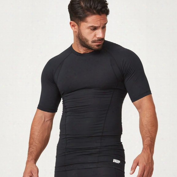 Myprotein Compression Short Sleeve T-shirt - Black - M