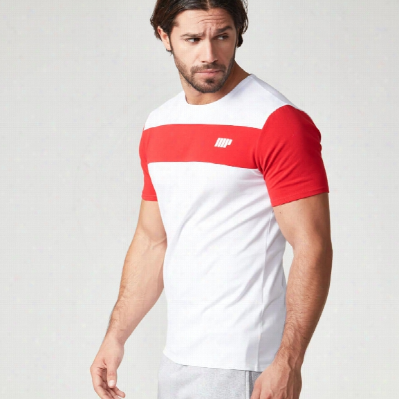 Myprotein Men's Core Stripe T-shirt - Red, Xxl