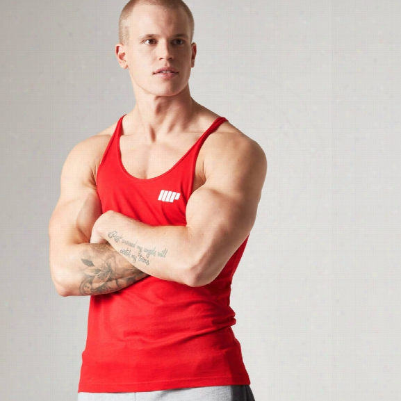 Myprotein Men's Longline Stringer Vest, Red, M