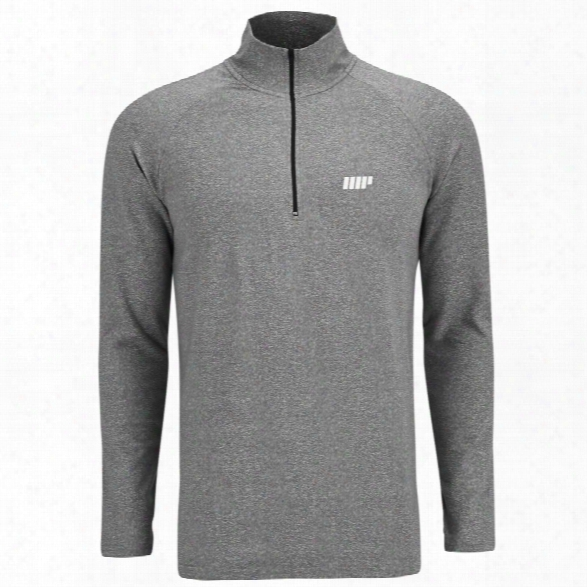 Myprotein Men's Performance Long Sleeve 1/4 Zip Top - Grey Marl - M