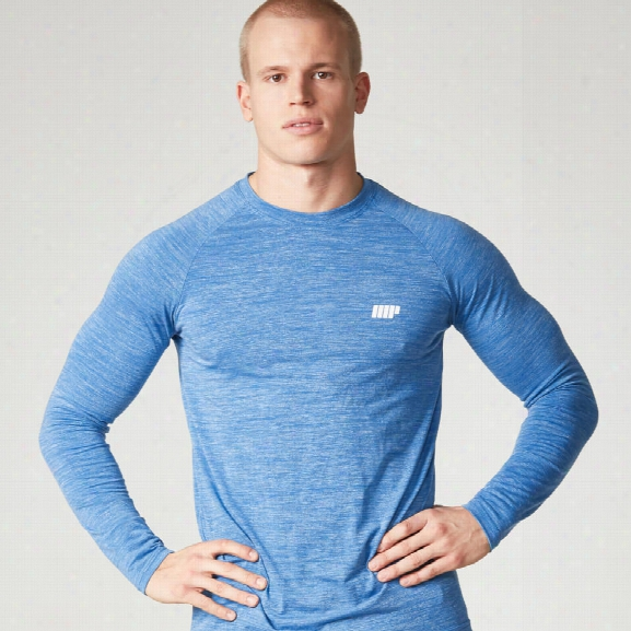 Myprotein Men's Performance Long Sleeve Top, Blue Marl, S