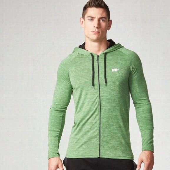 Myprotein Men's Performance Zip Hoodie - Green Marl - S