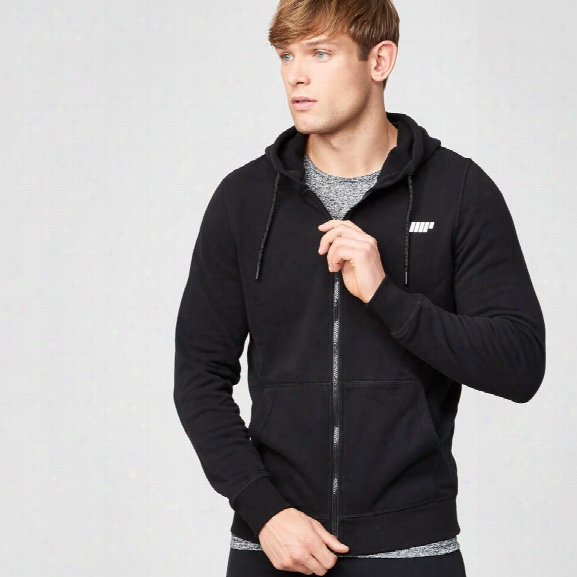 Myprotein Men's Tru-fit Full Zip Hoodie - Black - S