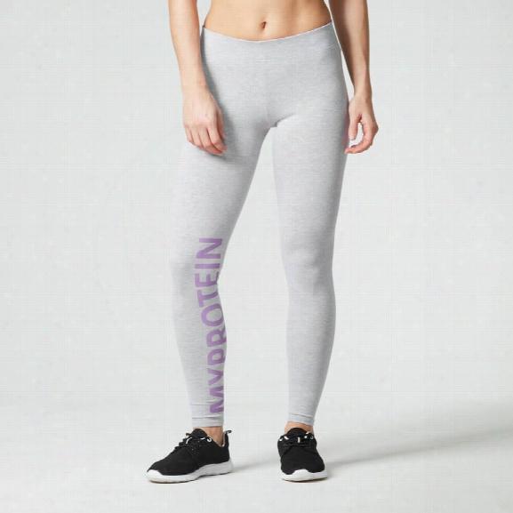 Myprotein Women's Logo Leggings - Grey, Xs
