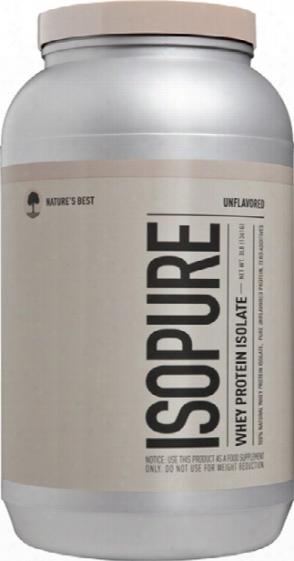 Nature's Best Isopure Whey Protein Isolate - 3lbs Unflavored