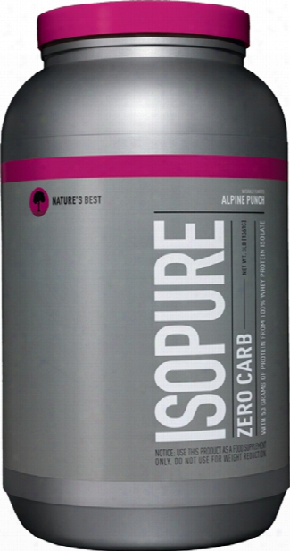 Nature's Best Isopure Zero Carb Protein - 3lbs Alpine Punch