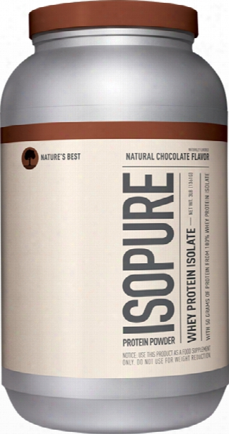 Nature's Best Natural Isopure - 3lbs Natural Chocolate