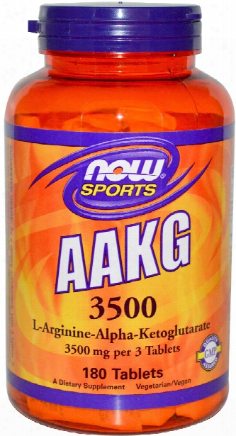 Now Foods Aakg 3500 - 180 Tablets