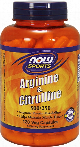 Now Foods Arginine & Citrulline 500/250 - 120 Capsules