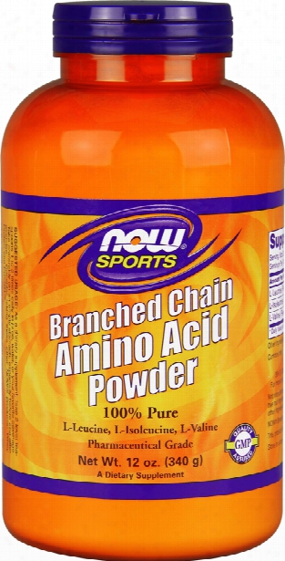 Now Foods Branched Chain Amino Acid Powder - 340g