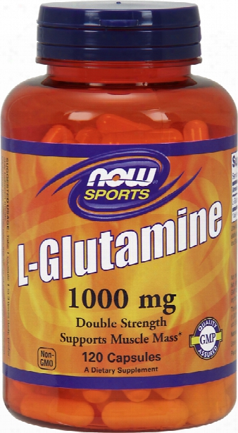Now Foods L-glutamine Capsules - 120 Capsules