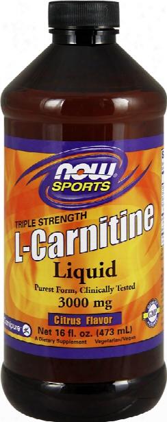 Now Foods Liquid Carnitine - Triple Strength - 16 Fl. Oz. (473ml)