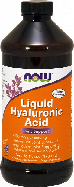 Now Foods Liquid Hyaluronic Acid - 16 Fl.  Oz. Delicious Beryr