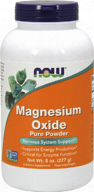 Now Foods Magnesium Oxide - 8oz