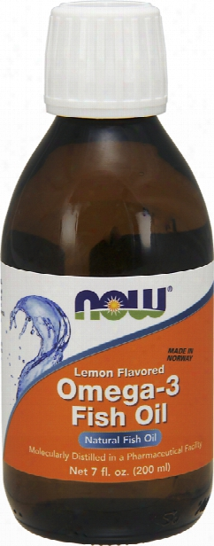 Now Foods Omega-3 Fish Oil - 7 Fl. Oz. Lemon