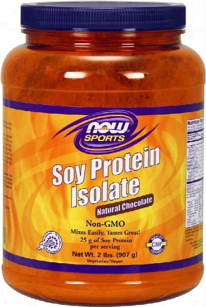 Now Foods Soy Protein Isolate - 2lbs Natural Chocolate