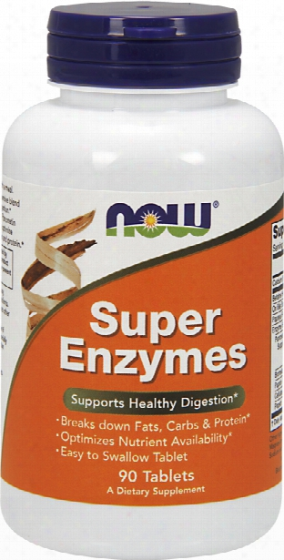 Now Fods Super Enzymes - 90 Tablets