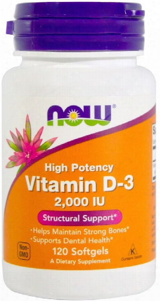 Now Foods Vitamin D-3 - 2,000iu 120 Softgels