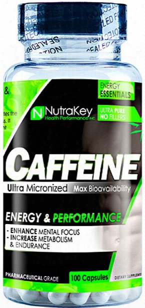 Nutrakey Caffeine - 100 Capsules
