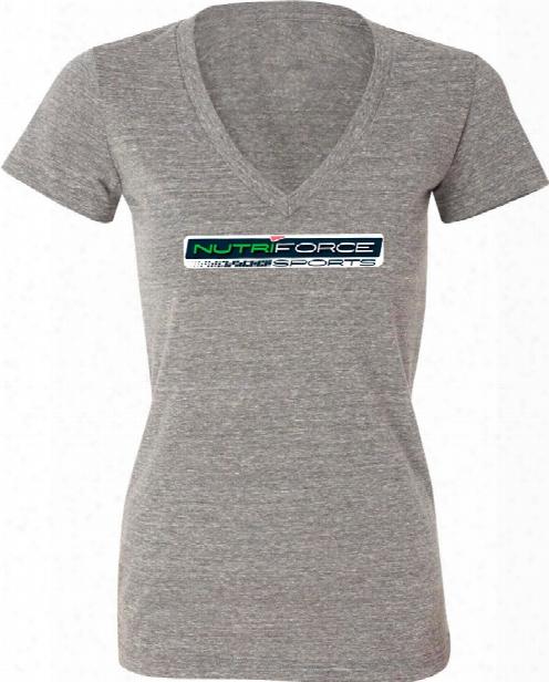 "Nutriforce Sports ""never Quit"" Women's V-neck - Grey Small"