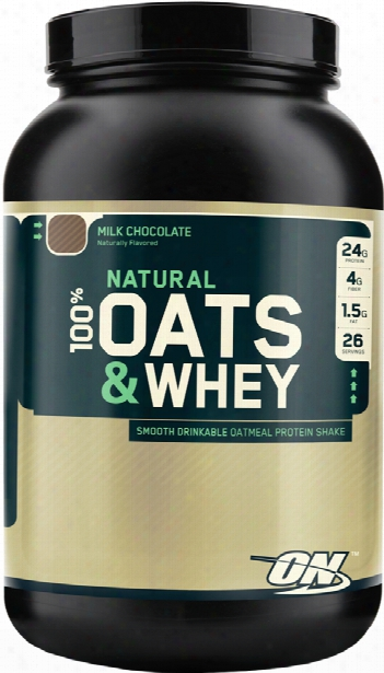 Optimum Nutrition Natural 100% Oats & Whey - 3lbs Milk Chocolate