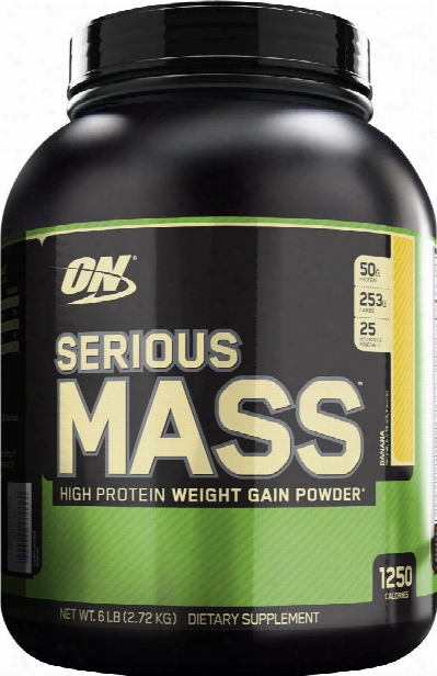 Optimum Nutrition Serious Mass - 6lbs Banana