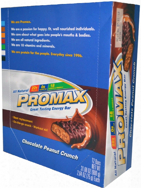 Promax Protein Bar - Box Of 12 Chocolate Peanut Crunch