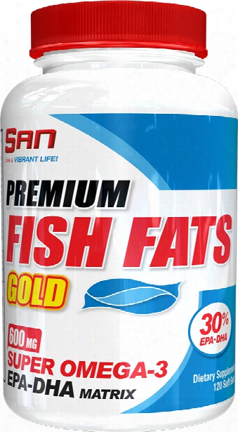 San Premium Fish Fats Gold - 120 Softgels