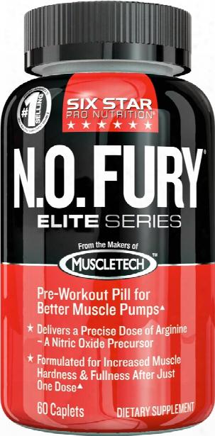 Six Star Muscle N.o. Fury Elite Series - 60 Caplets