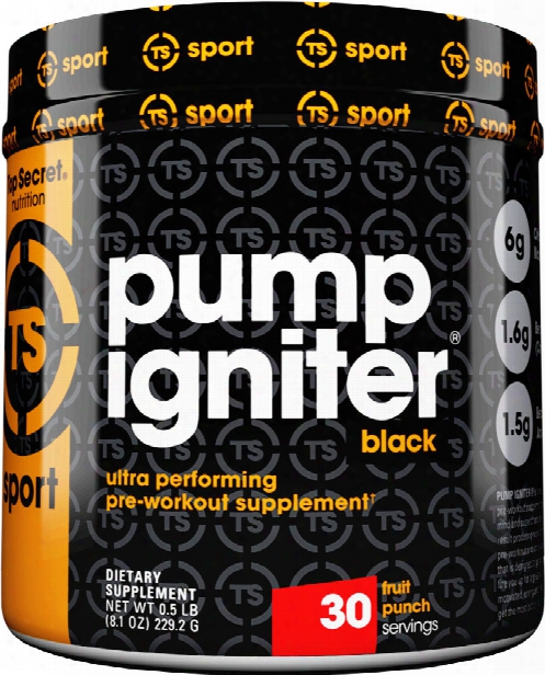Top Secret Nutrition Pump Igniter Black - 30 Servings Pink Lemonade
