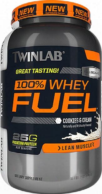 Twinlab 100% Whey Fuel - 2lbs Vanilla Rush