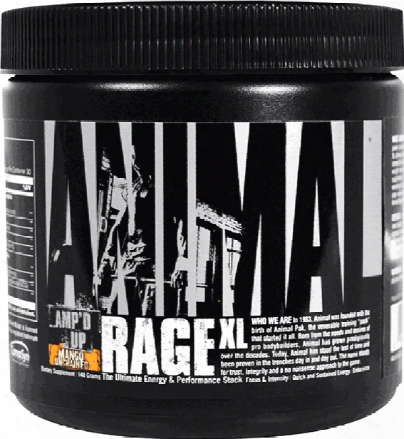 Universal Nutrition Animal Rage Xl - 30 Servings Mango Unchained